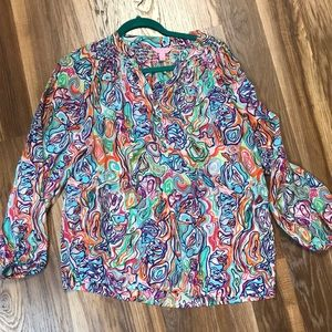 Lilly Pulitzer what a catch silk elsa small